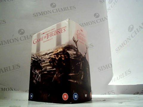 Lot 8212 game of  thrones - seasons 1 - 7 box set