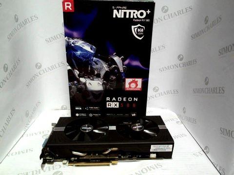 Lot 7555 SAPPHIRE NITRO + RADEON 580 GRAPHICS CARD  RRP £350.00