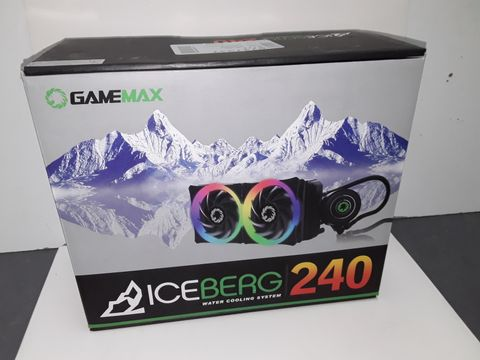 Lot 4253 GAME MAX ICEBERG 240 MM WATER COOLING SYSTEM WITH 7 COLOUR PWM FAN - BLACK