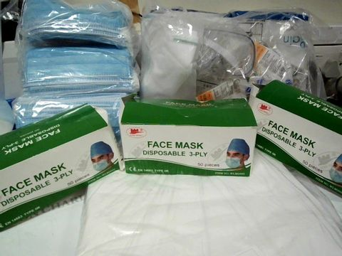 Lot 1504 LARGE BOX OF PPE INCLUDING, DISPOSABLE GOWNS, FACE MASKS, FACE SHIELDS,