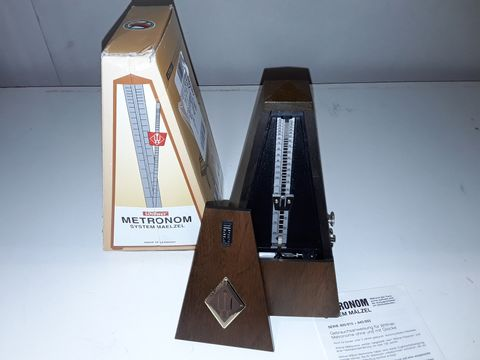 Lot 80 WITTNER W814M METRONOME WITH BELL - WALNUT