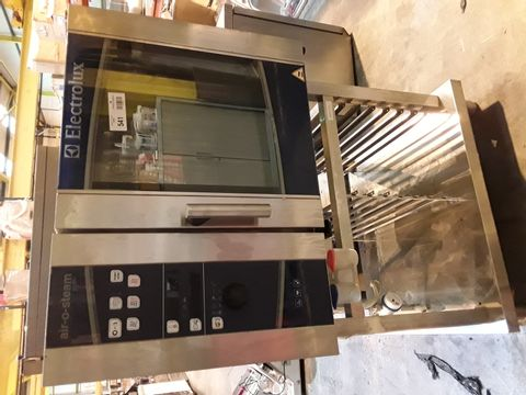 Lot 541 ELECTROLUX AIR-O-STEAM ELECTRIC OVEN ON STAND AOSO61EBK2