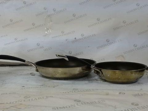 Lot 137 CIRCULON STAINLESS STEEL FRYING PAN SET