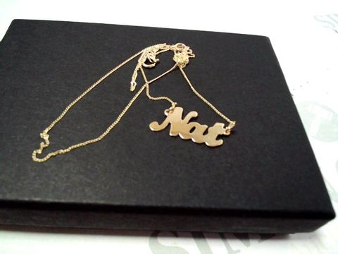 Lot 4154 9CT YELLOW GOLD PERSONALISED NAME SCRIPT NECKLACE RRP £164.00