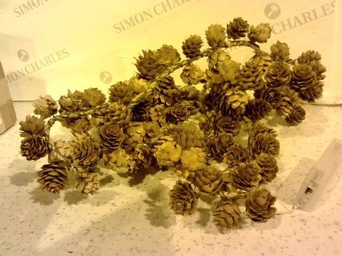 Lot 273 HOME REFLECTIONS SET OF 2 PRE-LIT MINI PINECONE GARLANDS