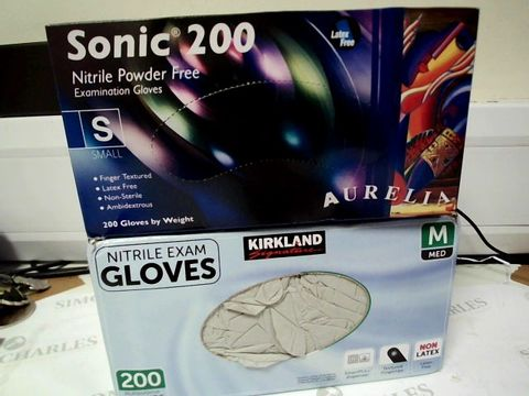 Lot 1506 TWO BOXES OF 200 DISPOSABLE GLOVES SIZE S & M