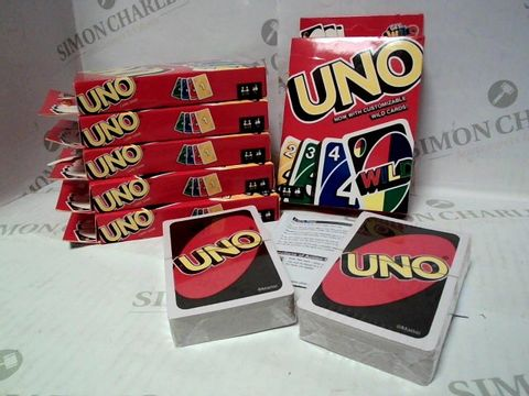 Lot 1 MATTEL UNO CARD GAME x6