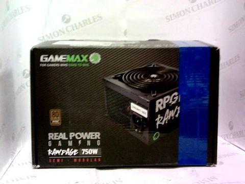 Lot 1029 GAMEMAX 750W RAMPAGE POWER SUPPLY