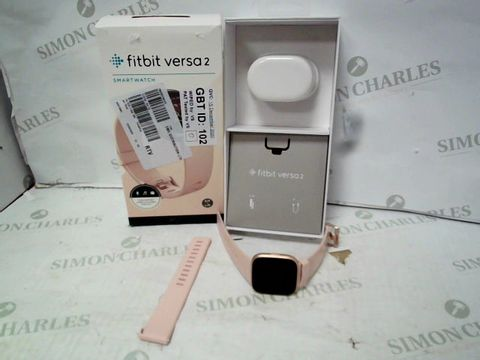 Lot 12045 FITBIT VERSA 2 SMARTWATCH WITH HEART RATE MONITOR & ALEXA - PETAL/COPPER ROSE