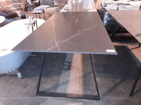 Lot 103 DESIGNER SLATE EFFECT RECTANGULAR TABLE