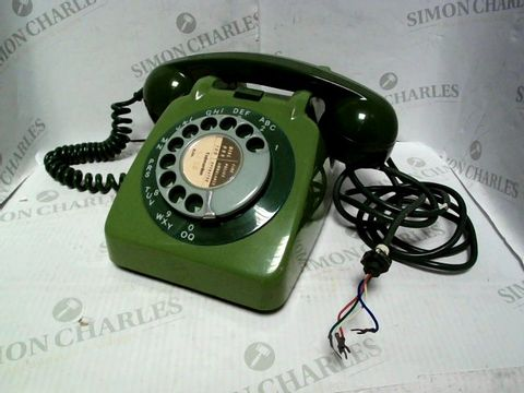 Lot 1023 VINTAGE ROTARY TELEPHONE 706 PLA66/2A GREEN