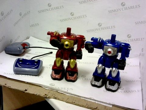 Lot 5486 ROBO SMASHERZ TWINPACK FIGHTING ROBOTS RRP £42.99