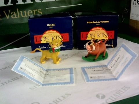 Lot 8290 LION KING GROLIER PRESIDENT EDITION COLLECTABLE FIGURES