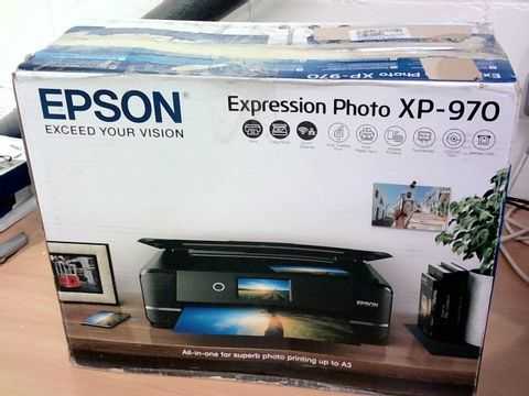 Lot 1225 EPSON EXPRESSION PHOTO XP-970 PRINTER RRP £299.99