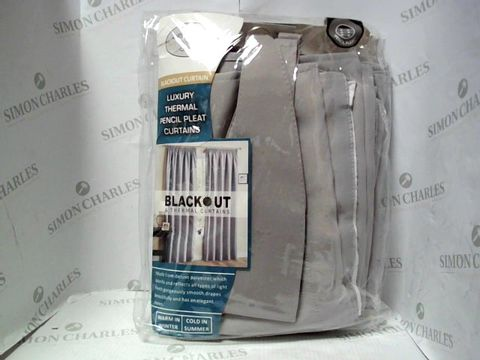Lot 7602 ROYAL COLLECTION THERMAL PENCIL PLEAT CURTAINS - GREY 46X72""