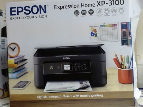 Lot 7923 EPSON EXPRESSION HOME XP-3100 WIFI ENABLED COLOUR PRINTER