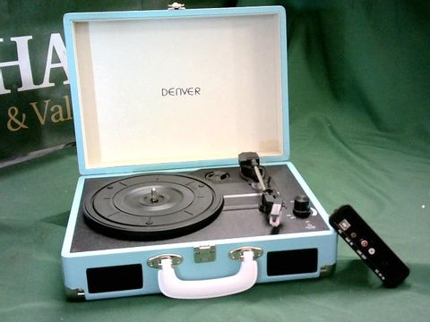 Lot 5104 DENVER PORTABLE TURNTABLE WITH PC RECORDING