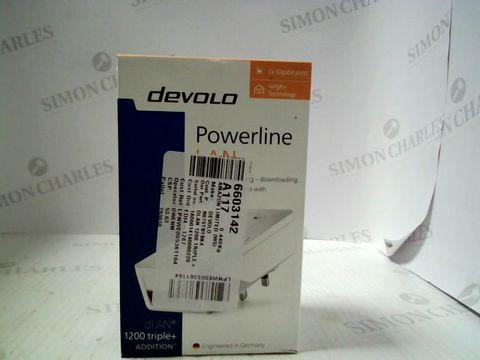 Lot 9036 DEVOLO POWER LINE LAN 3 GIGABIT PORTS