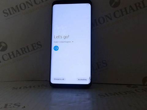 Lot 4195 UNBOXED SAMSUNG GALAXY S9 PLUS 128GB ANDROID SMART PHONE - BLACK