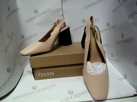 Lot 13031 BOXED PAIR OF DESIGNER OASIS HEELS - UK SIZE 7