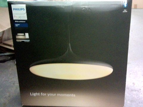 Lot 9089 PHILIPS HUE CHER WHITE AMBIANCE SMART LED CEILING SUSPENSION LIGHT