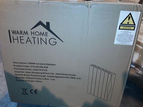 Lot 8262 WARM HOME 1500W CERAMIC RADIATOR