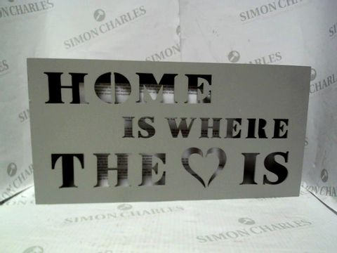 Lot 7054 HOME IS WHERE THE HEART IS LIGHT UP WALL ART