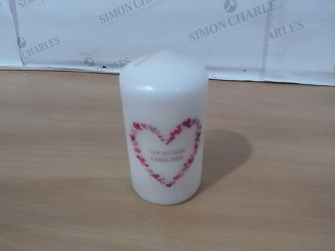 Lot 1034 CONFETTI HEARTS CANDLE RRP £24.99