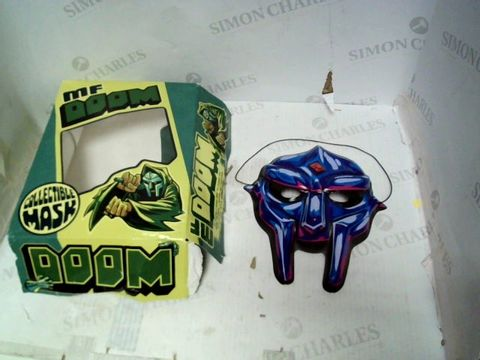 Lot 181 MF DOOM COLLECTABLE MASK (BOX IN BAD CONDITION)