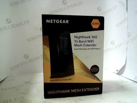 Lot 9121 BOXED NETGEAR AC3000 NIGHTHAWK X6S TRI-BAND WIFI RANGE EXTENDER