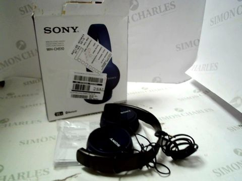 Lot 4117 SONY WH-CH510 WIRELESS HEADPHONES WITH VOICE ASSISTANT RRP £65.00