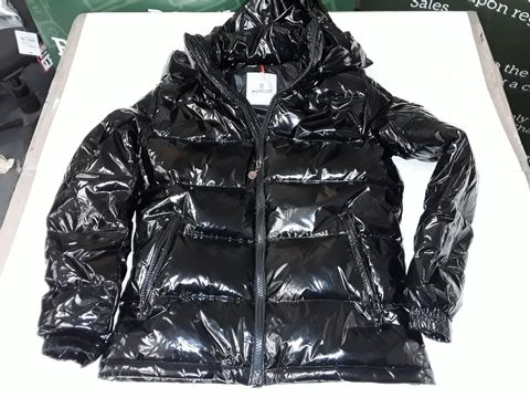 Lot 72 MONCLER HOODED JACKET IN BLACK - SIZE UNSPECIFIED