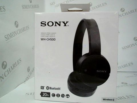 Lot 2460 BRAND NEW BOXED SONY WIRELESS STERO HEADSET WH-CH500 BLUETOOTH - BLACK