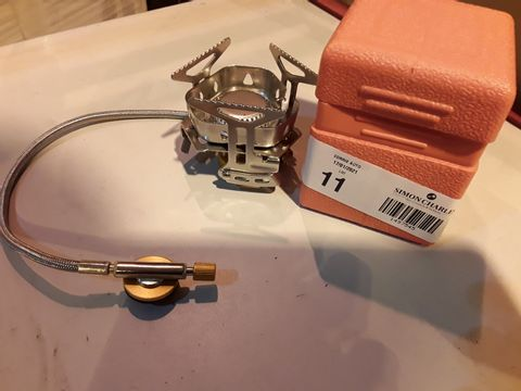 Lot 11 MINI CAMPING GAS RING WITH REGULATOR