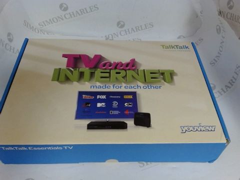 Lot 3562 TALKTALK YOUVIEW TV AND INTERNET BOX
