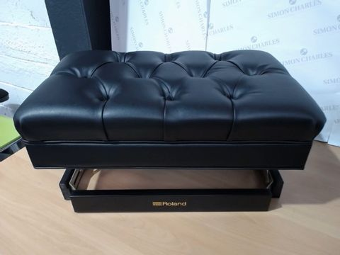 Lot 2549 rOLAND BLACK FAUX LEATHER PIANO SEAT