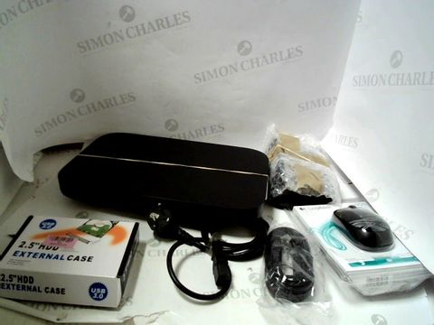 Lot 8279 LOT OF APPROXIMATELY 10 ASSORTED ITEMS TO INLCUDE; ROUTERS, CABLES ETC