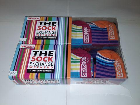Lot 47 2 BOXES OF THE SOCK EXCHANGE ODD SOCKS