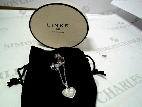 Lot 4021 LINKS OF LONDON STERLING SILEVR MOONSTONE NECKLACE AND HEART SHAPED PENDANT