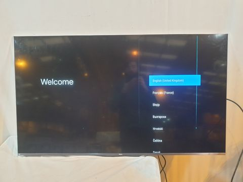 Lot 1109 TCL 50C715K 50 INCH 4K HDR QLED TELEVISION