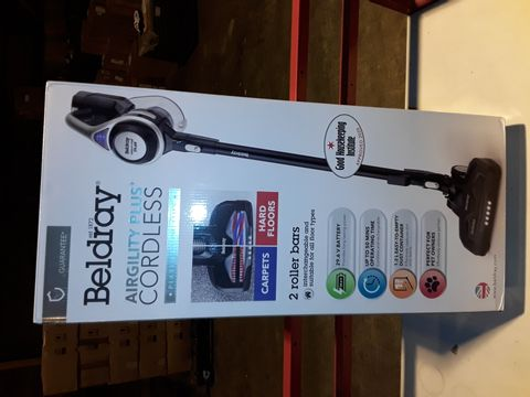 Lot 3214 BELDRAY AIRGILITY + CORDLESS VACUUM CLEANER