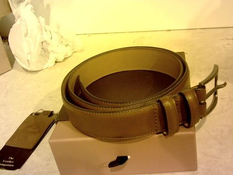 Lot 12113 THE LEATHER COMPANION GENUINE LEATHER BROWN BELT