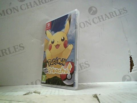 Lot 39 POKEMON: LET'S GO, PIKACHU  NINTENDO SWITCH GAME