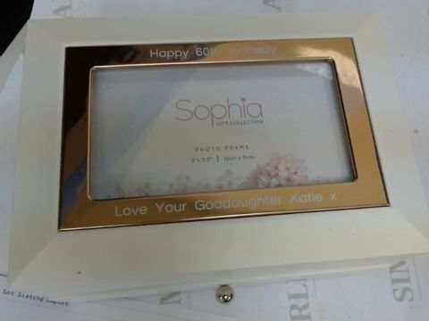 Lot 9070 PERSONALISED WHITE/GOLD JEWELLERY BOX RRP £44.99