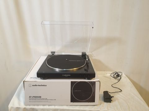Lot 40  AUDIO TECHNICAL AT-LP60XUSB TURNTABLE - BLACK
