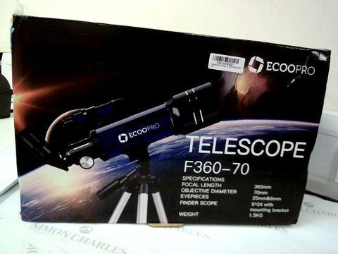 Lot 7564 ECOOPRO TELESCOPE F360-70