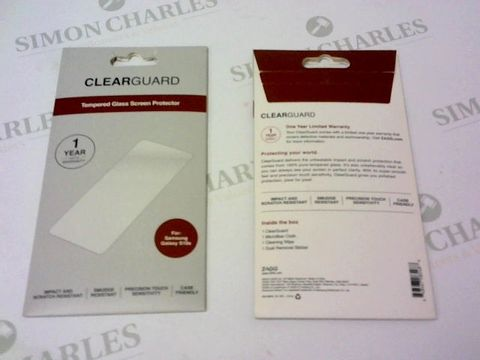 Lot 155 A BRAND NEW BOX OF APPROXIMATELY 103 CLEARGUARD TEMPERED GLASS SCREEN PROTECTOR FOR SAMSUNG GALAXY S10E