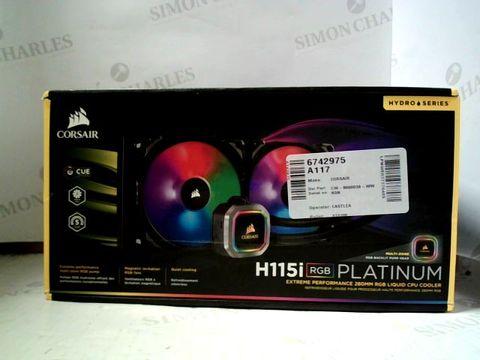 Lot 7291 CORSAIR N115I RGB PLATINUM EXTREME PERFORMANCE 280MM RGB LIQUID CPU COOLER