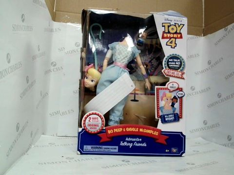 Lot 7400 TOY STORY BO PEEP WITH OFFICER GIGGLE MCDIMPLES INTERACTIVE TALKING TOY RRP £89.99