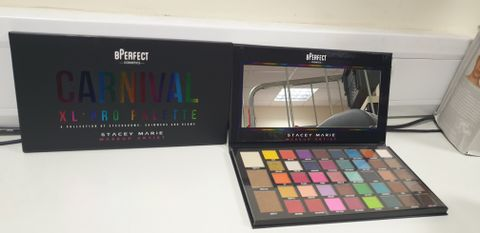Lot 7618 BPERFECT COSMETICS STACEY MARIE CARNIVAL XL PRO PALETTE